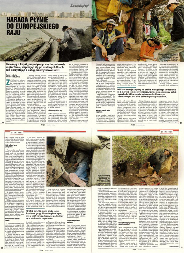 Immigrants from Morocco tearsheet