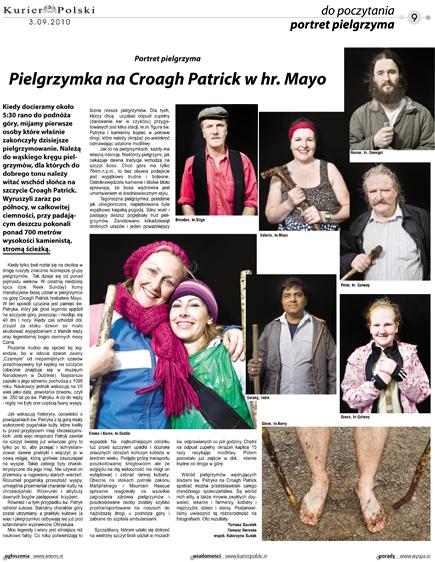 Croagh Patrick pilgrims tearsheet