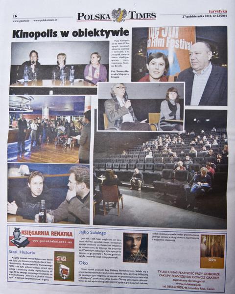 Kinopolis tearsheet Ireland