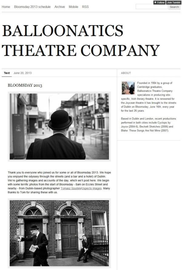 Balloonatics Theatre blog