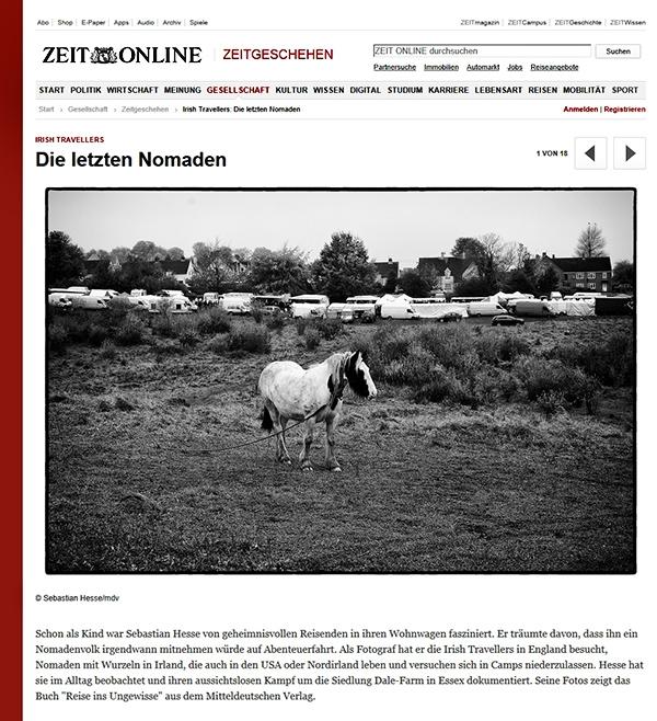 Sebastian Hesse tearsheet in Zeit online
