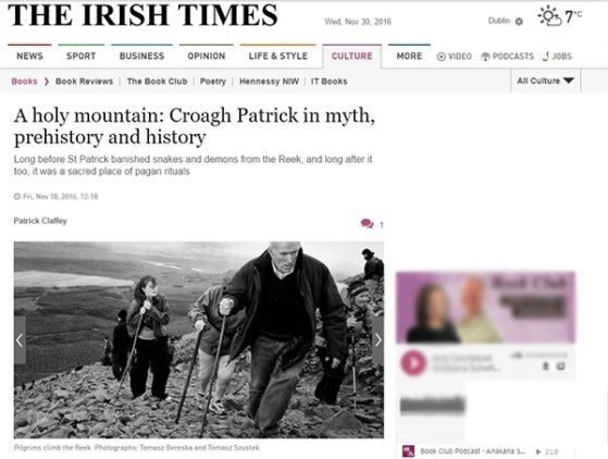 Croagh Patrick pilgrimage tear sheet
