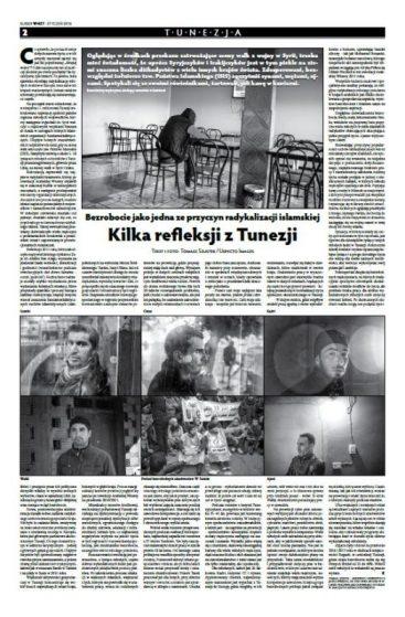 Kurier Wnet tearsheet Tunezja