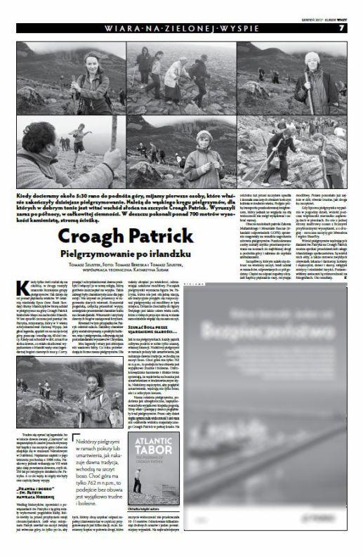 Croagh Patrick pilgrimage tearsheet