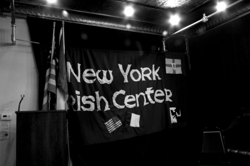 inside the Irish center in  New York,