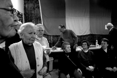People at the Irish center in Jacksons Avenue, Queens, New York,