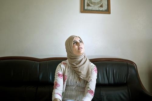 Aicha, student, hopes for a job after graduation