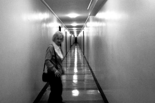 Women in the corridor