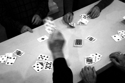 Playing a game of 31,Irish center in New York,