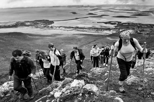 Croagh Patrick pilgrims climb the mountain