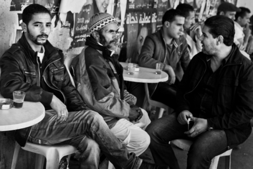 Men at the street café