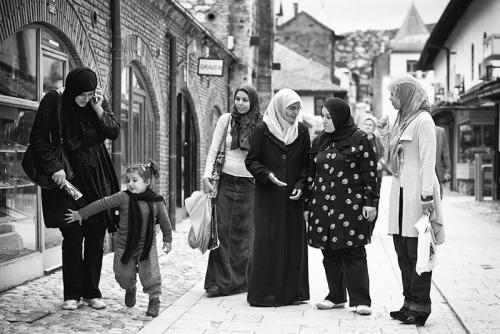 Muslim women, Sarajevo