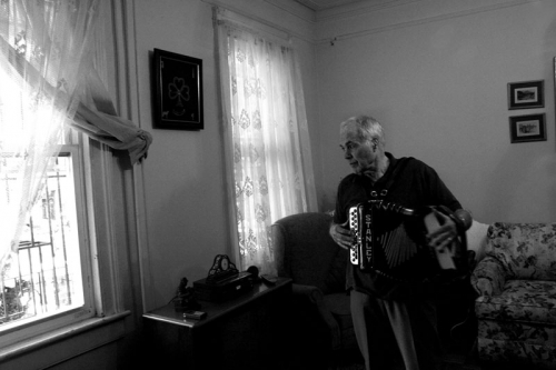 Stanley Rygor, in his home in Queens,
