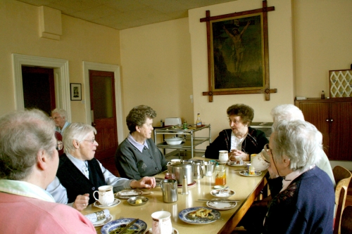 Dinner at the Sisters of Mercy convent