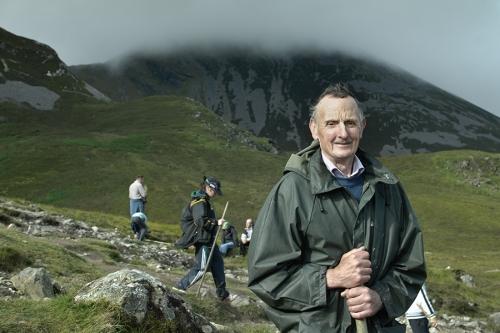 Croagh Patrick pilgrim portrait