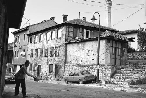 Woman at the street of Sarajevo