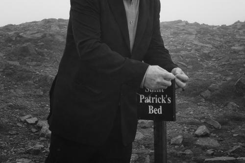 Croagh Patrick pilgrim at the St. Patrick's bed