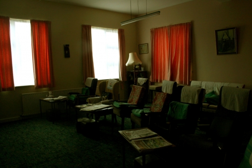 Living room inside the Sisters of Mercy convent