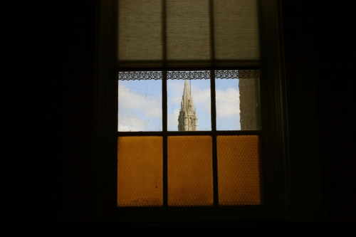 Sisters of Mercy convent, view through the window