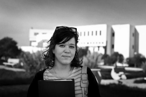 Souha, student, believes in progress in Tunisia