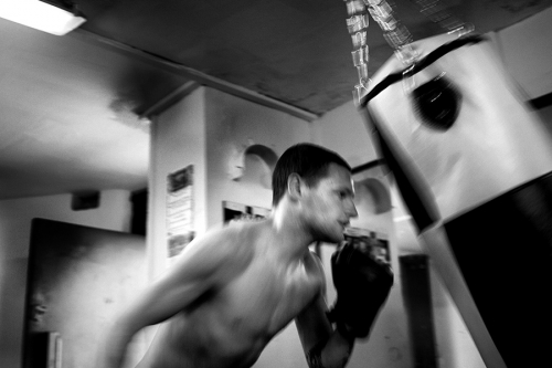 Training session at Donore Boxing Club