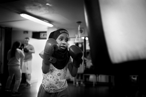 Jafiat,  during the training session at Donore Boxing-Club