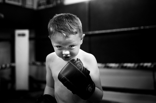 Harry at the-training session at Donore Boxing-Club, Dublin