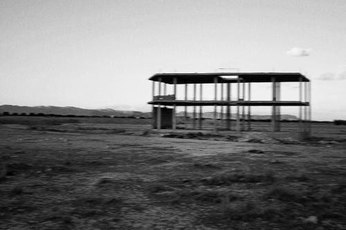 Unfinished building in Regueb