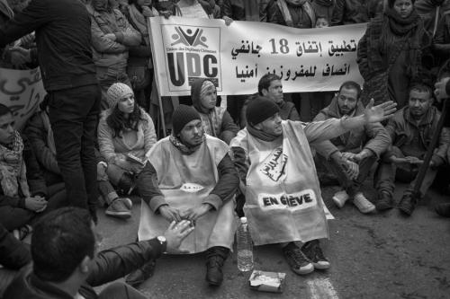 35. Protest of unemployed graduates in Tunis