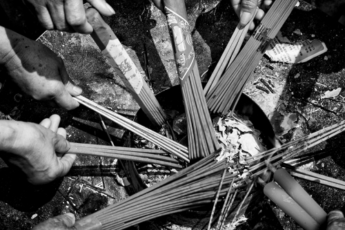 Incense sticks in China