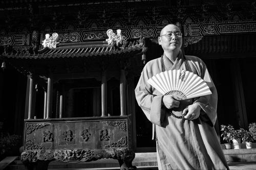 Buddhist monk, in China