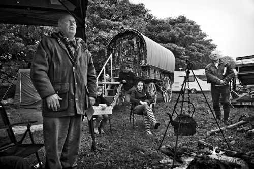 Travellers family and the wagon