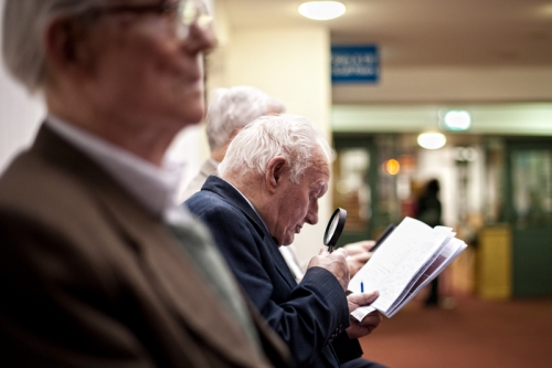 Checking the results of the greyhound races