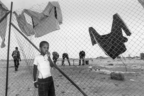 Boy at the outskirts of the Choucha refugee camp