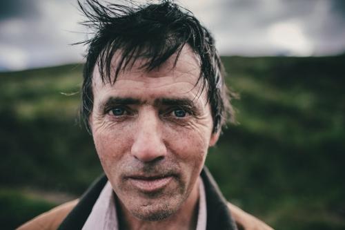Portrait of Croagh Patrick pilgrim