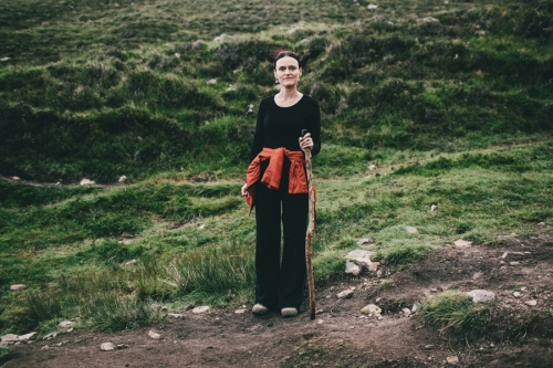 Portrait of a female pilgrim, Croagh Patrick