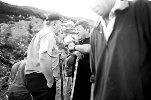 Croagh Patrick pilgrims chatting