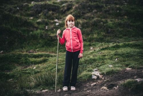 Portrait of a girl, Croagh Patrick pilgrim, Ireland