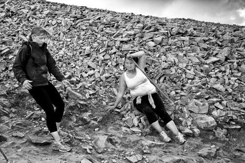 Pilgrims at the slopes of Croagh Patrick, Ireland