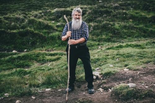 Croagh Patrick male pilgrim portrait
