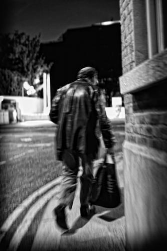 001. Denis walks the streets of Dublin