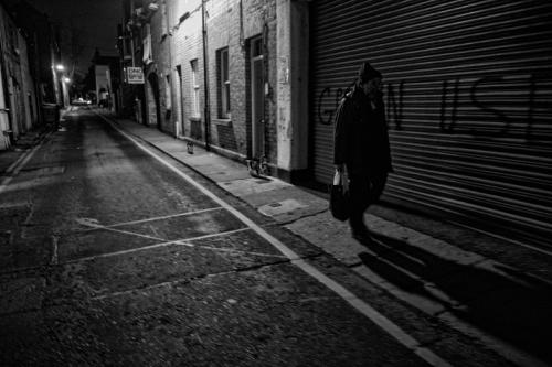 018. Denis walks the streets of Dublin at night