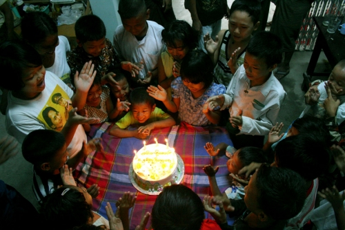 Celebrations are in full swing at Min Thant Aung birthday party, Mandalay, Myanmar