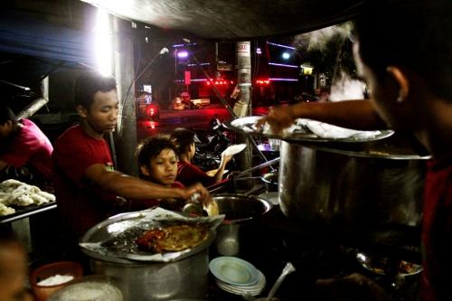 Street bar, Myanmar