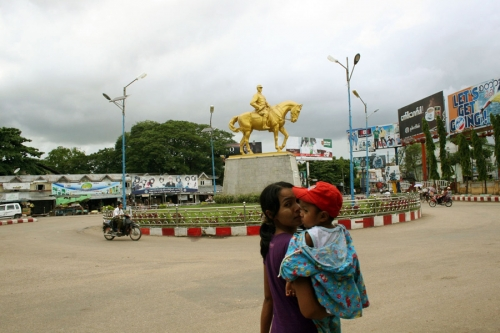 A statue of Aung San, Myanmar