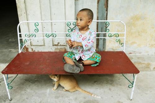 Hin Ya Dyi in A Yeik Mon orphanage in Mandalay. Myanmar.