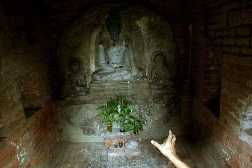 A temple in an ancient site called Thayekhittaya, ,Myanmar