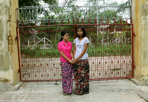 Two of the many Orphans in A Yeik Mon, Mandalay, Myanmar