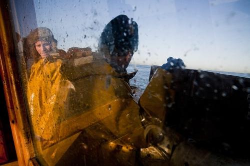 Fishermen working on Irish Sea