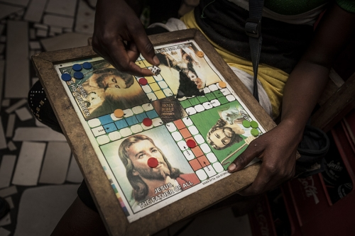 Table game with Jesus images